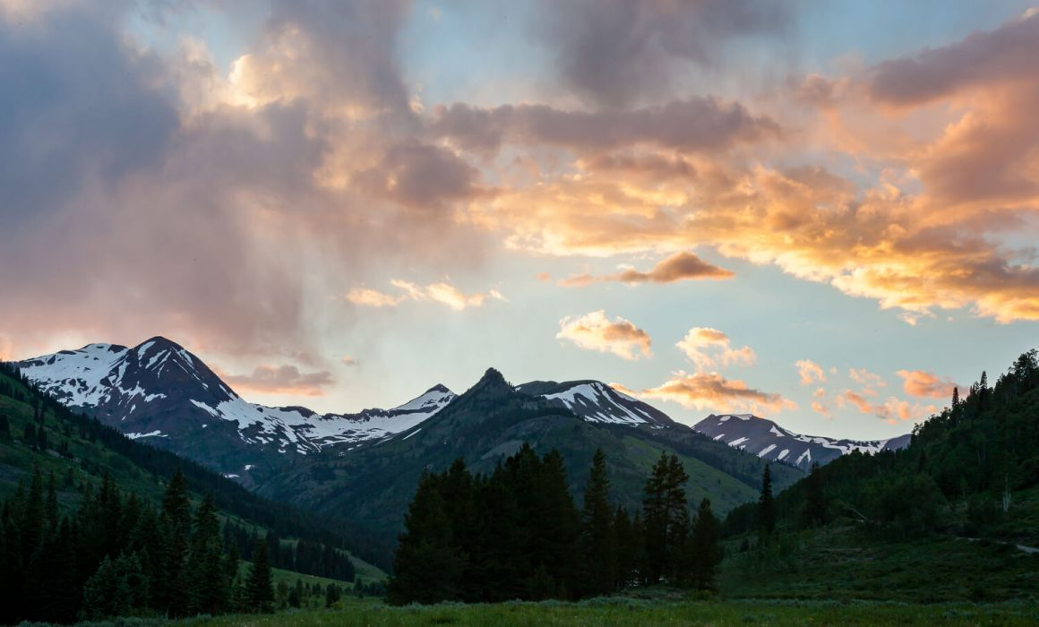 View from Slate River Road, Crested Butte, Colorado