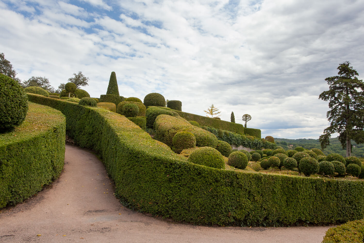 Sculpted topiaries in the gardens of marqueyssac