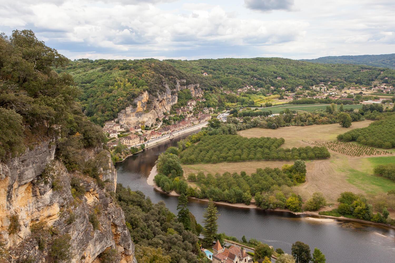 Gardens of Marqueyssac belvedere Dordogne River view