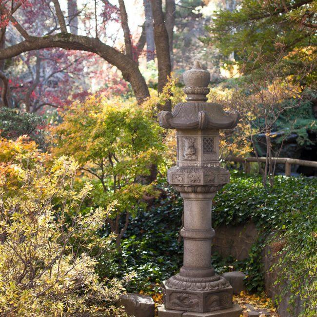 stone lantern Japanese garden brooklyn botanic garden
