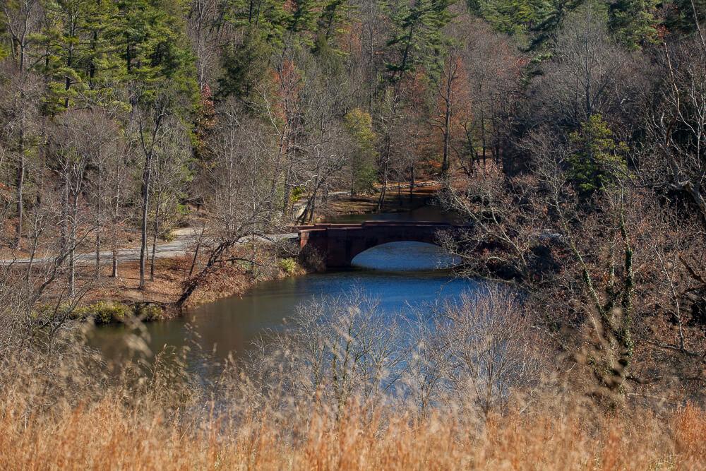 Biltmore House Meadow Brick Bridge Bass Pond