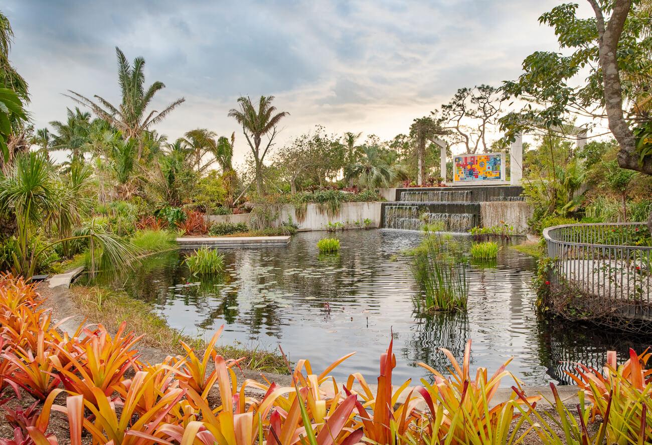 Naples Botanical Garden Roberto Burle Marx Tile Mural Brazilian Garden