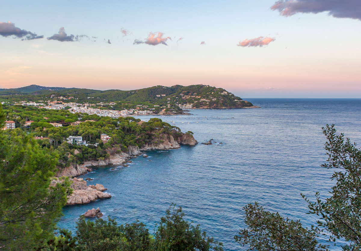 A view of Calella de Palafrugell from the Jardins de Cap Roig